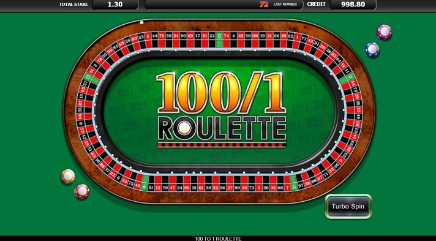 100 to 1 Roulette slot