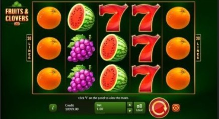 Fruits and Clovers: 20 Lines slot