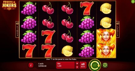 Fruits and Jokers: 40 Lines slot