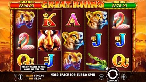 Great Rhino UK Online Slots