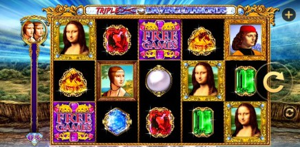 Triple Double Da Vinci Diamonds slot
