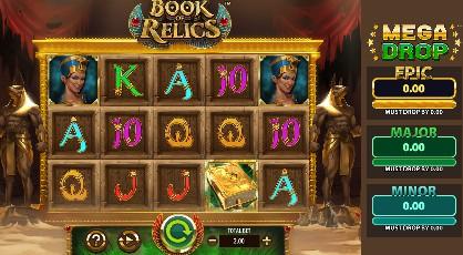Book of Relics Mega Drop slot